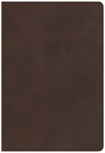 143365153X | HCSB Super Giant Print Reference Bible Brown Genuine Leather, Thumb-Indexed