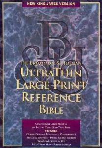 1558196463 | NKJV UltraThin Large Print Reference