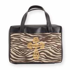 124662 | Bible Cover Zebra with Embroidered Cross XLG
