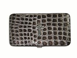 6006937097681 | Wallet Croc Wallet with Embossed Cross, Black