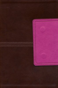 1586407864 | HCSB Large Print Personal Size Bible, Pink and Brown LeatherTouch with Magnetic Flap