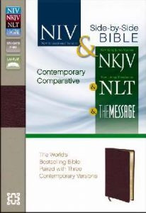 0310436931 | NIV  NKJV NLT The Message Contemporary Comparative Side-by-Side Bible