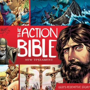 1613751664   The Action Bible New Testament: God's Redemptive Story Unabridged Audiobook on CD