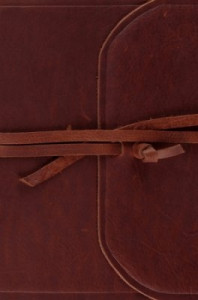 1433554658 | ESV Compact Bible Brown Natural Leather with Flap and Strap