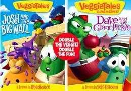 820413125493 | DVD Veggie Tales: Josh Big Wall Dave Giant