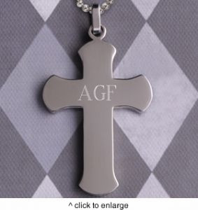 GC981 | Personalized Rounded Edge Cross Pendant