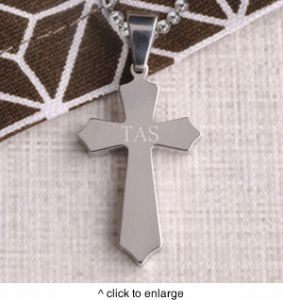 GC982 | Personalized Classic Silver Cross Pendant