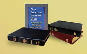 1581351364 | NASB Large Print Ultrathin Reference Bible Black Bonded Leather