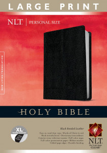 1414387725 | NLT Personal Size Bible Large Print Bonded Leather Black