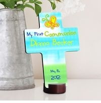 GC782 - Sunshine and Butterflies | Personalized First Communion Gift Cross