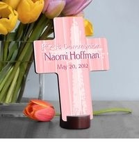 GC782 - Light of God Pink | Personalized First Communion Light of God Pink Gift Cross
