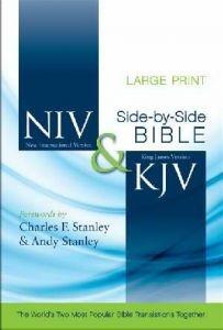 0310436893 | NIV & KJV Side-By-Side Large Print Bible