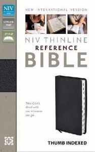 0310436281   NIV Thinline Reference Bible Thumb Indexed