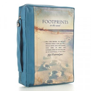 6006937131569 | Bible Cover Footprints Large