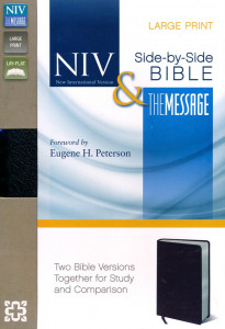0310436869 | NIV and The Message Side-by-Side Bible, Two Bible Versions Together for Study and Comparison