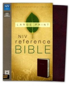 0310434947 | NIV Largeprint, Reference Bible, Burgundy, Thumb-Indexed