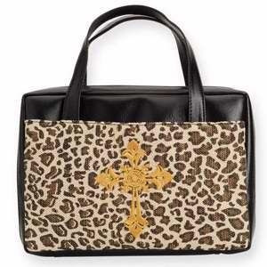 125895 | Bible Cover Leopard with Embroidered Cross XLG