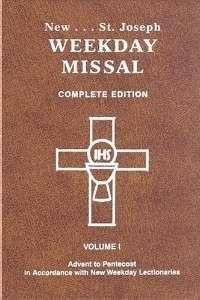 0899429319 | St. Joseph Weekday Missal, Complete Edition, Volume 1 Advent to Pentecost, Brown