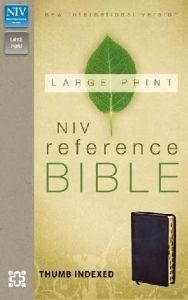 0310434920 | NIV Large Print Reference Bible Black Bonded Index