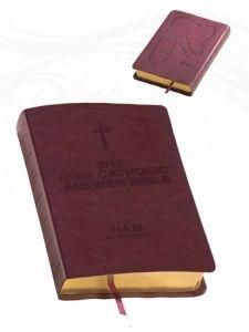 1556654103 | NABRE New Catholic Answer Bible Librosario Edition, Burgundy Imitation Leather