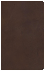 1535905573 | KJV Ultrathin Reference Bible Brown Genuine Leather Bible