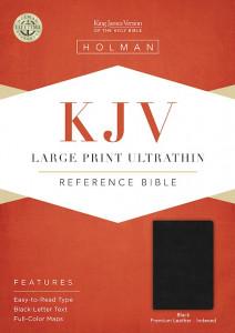 1462779859 | KJV Large Print Ultrathin Reference Bible-Premium Black Genuine Leather Indexed