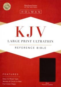 1462779840 | KJV Large Print Ultrathin Reference Bible Premium Black Genuine Leather