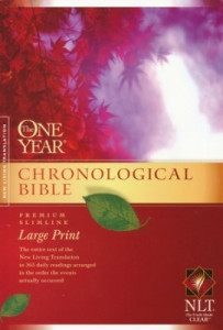 1414337671 | NLT2 One Year Chronological Slimline Bible Large Print Softcover