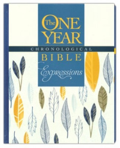 1496420179 | NLT2 One Year Chronological Bible Creative Expressions Deluxe Blue Hardcover