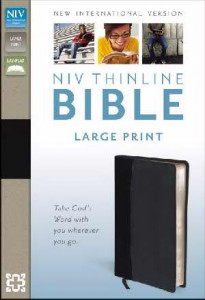 0310435986 | NIV Large Print Thinline Reference Bible