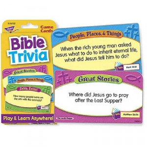 078628247022   Bible Trivia Quiz Card Game