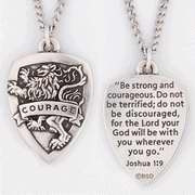 510361149X   Necklace Courage Shield with 24