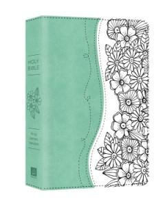 1634099486 | KJV Personal Reflections Bible Turqouise/White DiCarta