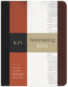 1433643057 | KJV Notetaking Bible Black/Burgundy Bonded Leather