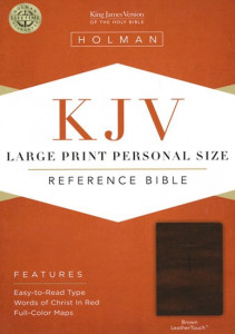 1433606224 | KJV Large Print Personal Size Reference Bible, Brown LeatherTouch, Thumb-Indexed