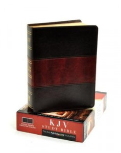 1433600358 | KJV Study Bible, Saddle Brown Simulated Leather, Indexed