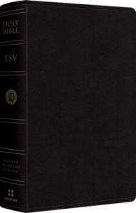 1433541521 | ESV Large Print Personal Size Bible-Black Genuine Leather