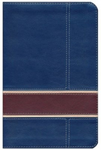 1433619679 | Military Families Bible, Navy and Crimson LeatherTouch