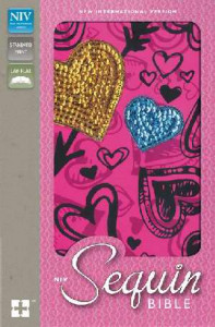 0310731135 | NIV Sequin Bible Hot Pink Hearts Hardcover