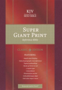 1535905557 | KJV Super Giant Print Reference Bible Burgundy LeatherTouch