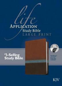 1414391986   KJV Life Application Study Bible/Large Print Brown Tan Blue TuTone Indexed