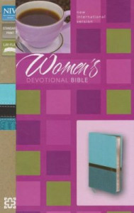 0310437687 | NIV Women's Devotional Bible Turquoise Caribbean Blue Duo-Tone