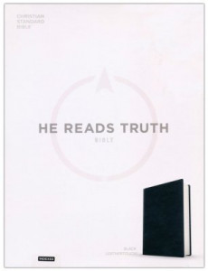 1535935065 | CSB He Reads Truth Bible Black LeatherTouch Indexed