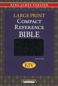 1598561065   KJV Compact Large Print Reference Bible Bonded Leather Black