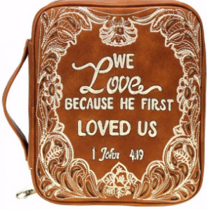 159128 | Bible Cover We Love Because He First Loved Us