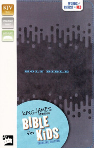 0310763835 | KJV Thinline Bible For Kids Charcoal Leathersoft