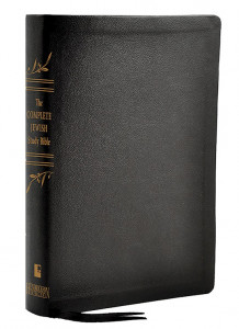 1619708701 | The Complete Jewish Study Bible Black Genuine Calfskin Leather