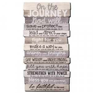 667665450252 | Wall Décor-Stacked Wood: Journey