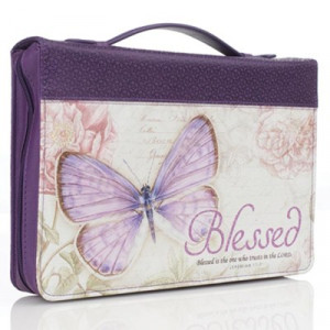 6006937131675 | Bible Cover-Classic Butterfly Blessings/Blessed Medium
