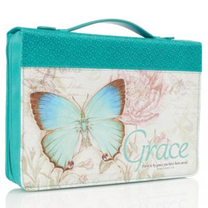 6006937131699 | Bible Cover-Classic Butterfly Blessings/Grace Medium